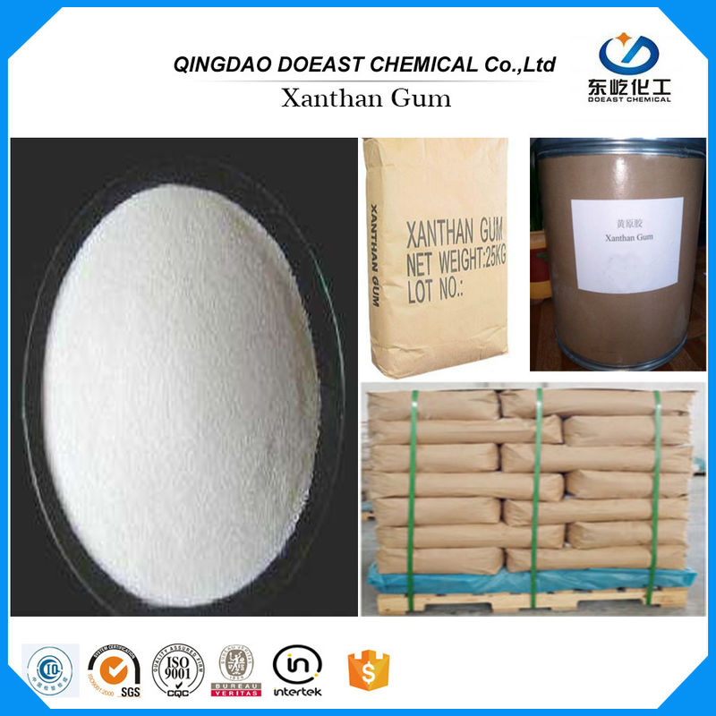 Food Thickener Transparent Xanthan Gum Polymer 200 Mesh HS 3913900