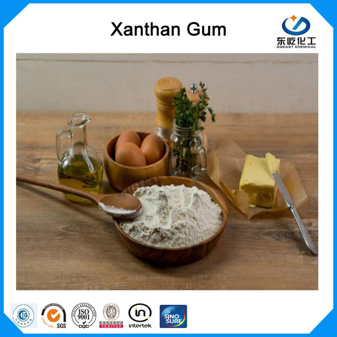 80 Mesh and 200 Mesh Food Additives Xanthan Gum Food Grade Polysaccharide High Viscosity Efficient Thickener